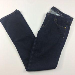 {J Crew} Dark Wash Straight Leg Matchstick Jeans